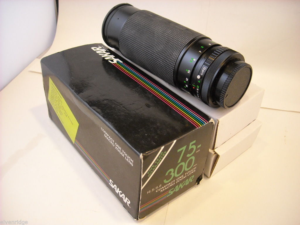 Sakar 75 - 300mm Macro Zoom Lens for Canon