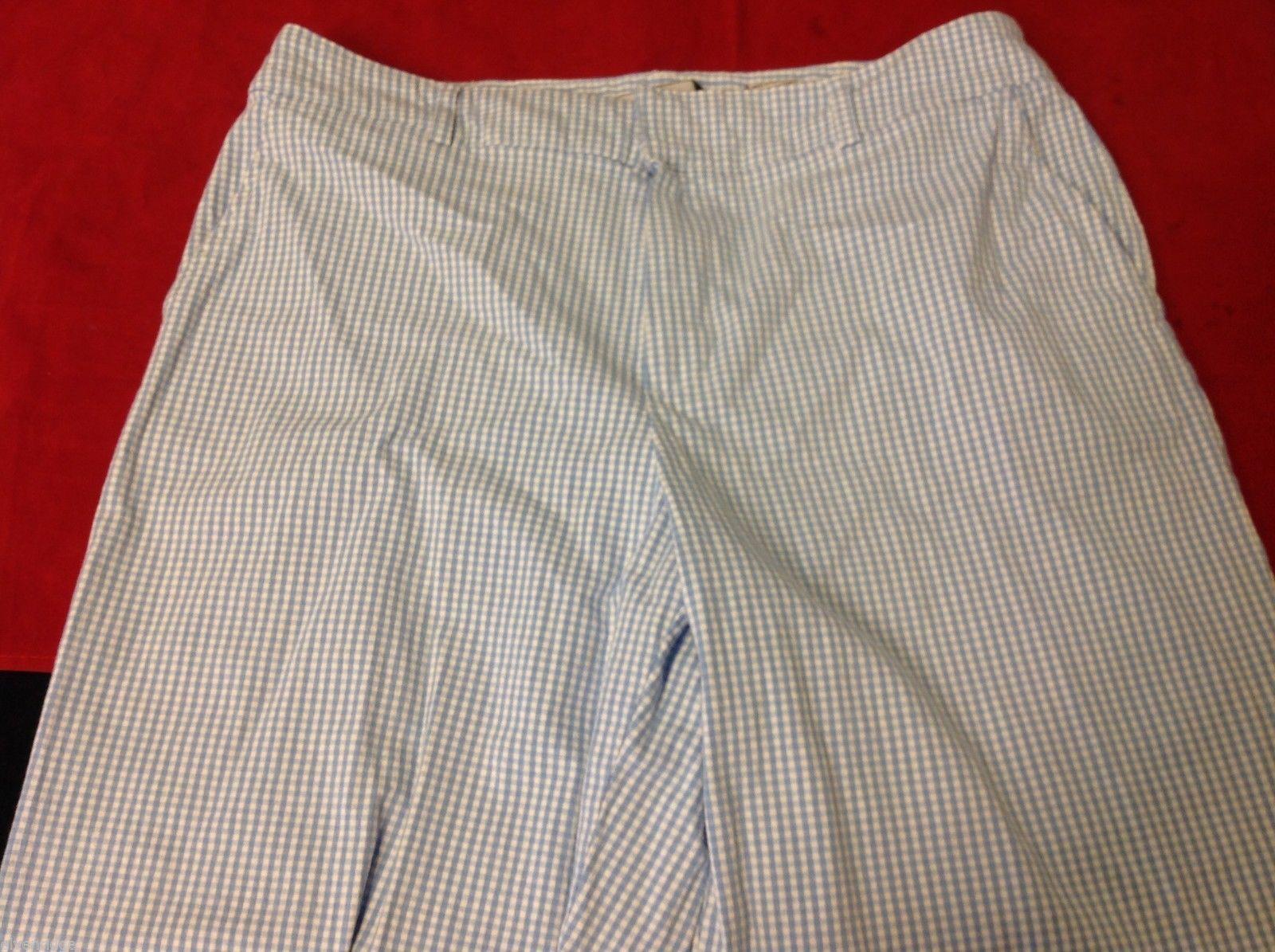 Sag Harbor size 8 petite sport capri pants seersucker type with matching top