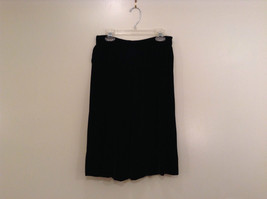 Saks Fifth Avenue Size 6 Black Velvet Dress Skirt Side Pockets Very Nice image 1
