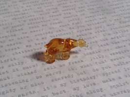 Micro miniature small hand blown glass one eye cyclops bear USA made image 5