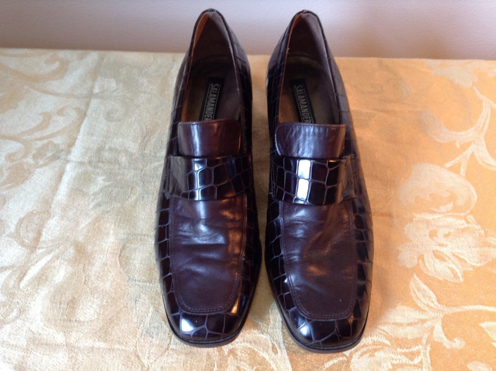 Salamander Shoes with Heel Size Five and a Half Brown Purple Tint
