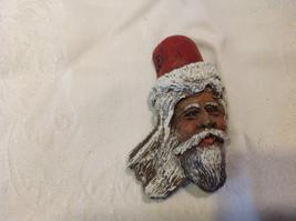 Santa Woodland Wood Spirit refrigerator magnet carved wood appearance