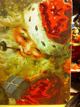 Santa Joyful Christmas Wooden Primitive Countdown Calendar from 31 Days