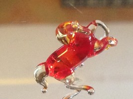 Micro miniature small hand blown glass rearing horse in color choice image 6