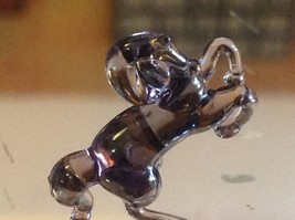 Micro miniature small hand blown glass rearing horse in color choice image 5