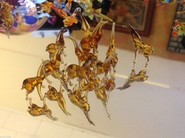 Micro miniature small hand blown glass standing brown giraffe image 5