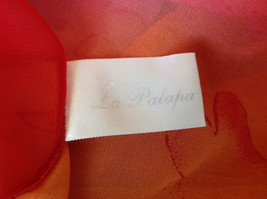Pink Red Orange Skirt Tie Beach Coverup Black Gold Flower Design Ties at Waist image 6
