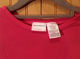 Pink Stretch Isaac Mizrahi Long Sleeve Top Size Small Made in USA image 2