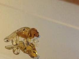 Micro miniature small hand blown glass yellow baby walrus spotted made USA  NIB image 4