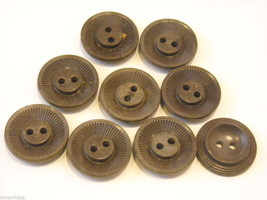 Mixed lot of vintage buttons in clear brown and yellow image 8