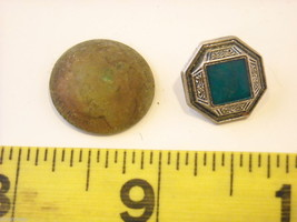 Mixed lot of vintage buttons in unusual shapes violin shoes pyramids cube image 5