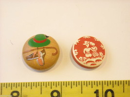 Mixed lot of vintage buttons in unusual shapes violin shoes pyramids cube image 9