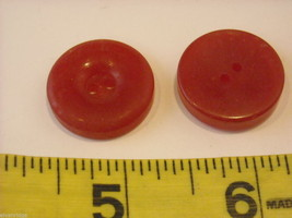 Mixed lot of vintage buttons all reds one looks like CBS logo image 7