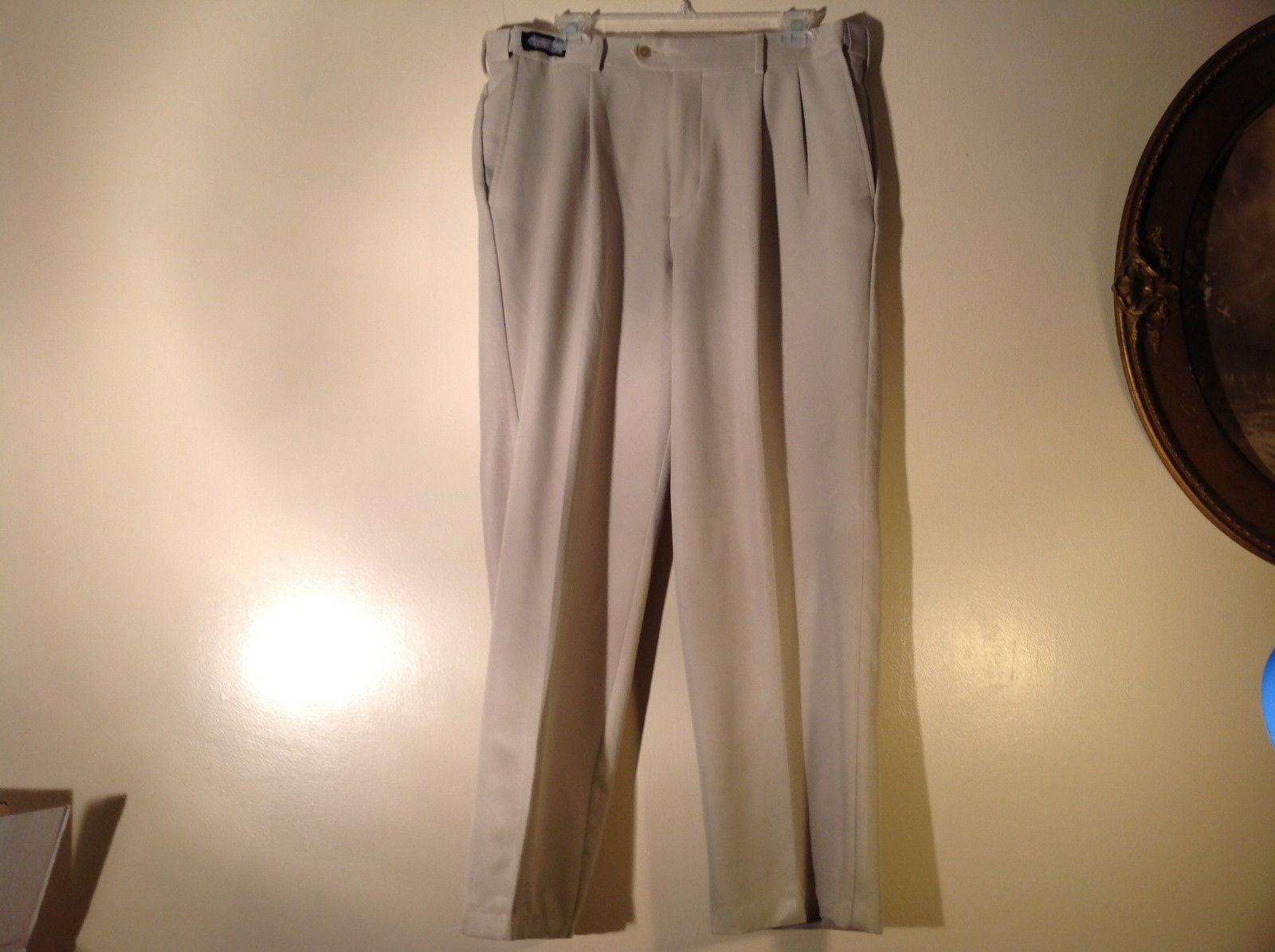 Savane Light Beige Dress Pants Comfort Plus Waistband Size 36W by 29L