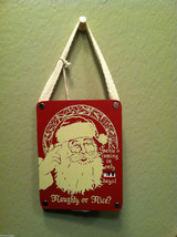 Santa's Coming in Only _ Days Christmas Countdown Hanging Wall Decor vintage red