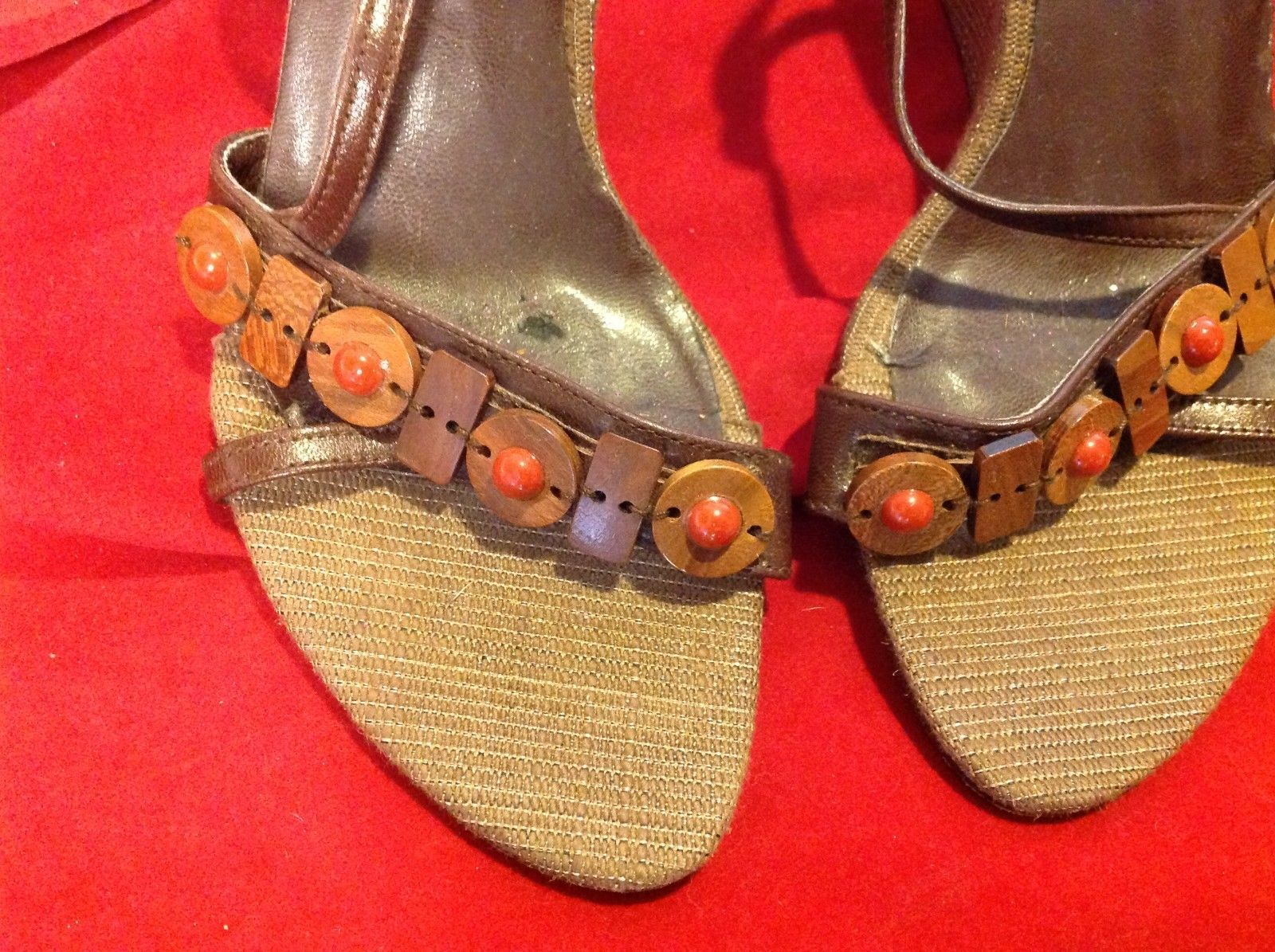 "Sasha  from spain Brown Platforms size 6.5  4"" heels"
