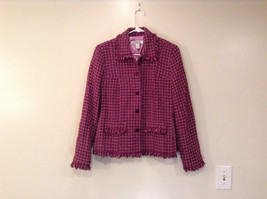 Savvy by Rafael Pink Violet Fully Lined Jacket Size 10 Faux Pockets image 1