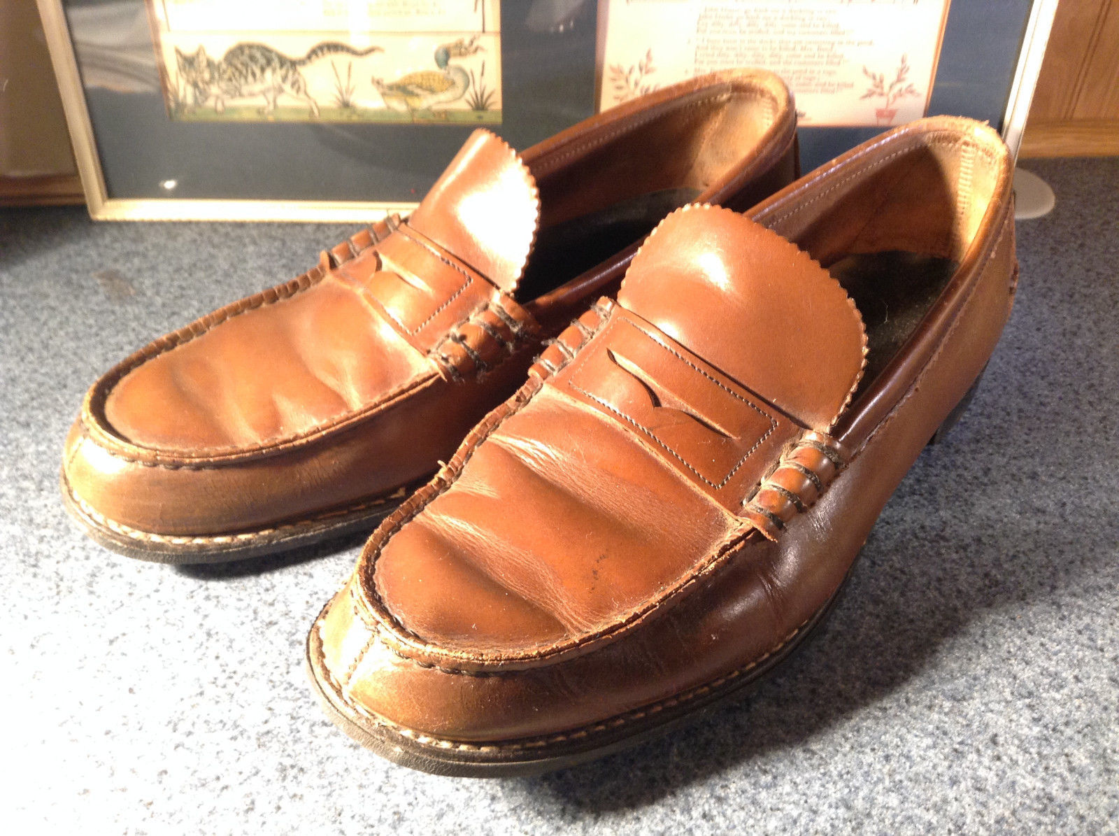 Sebago Classic Leather Loafers Size 11 See Pictures