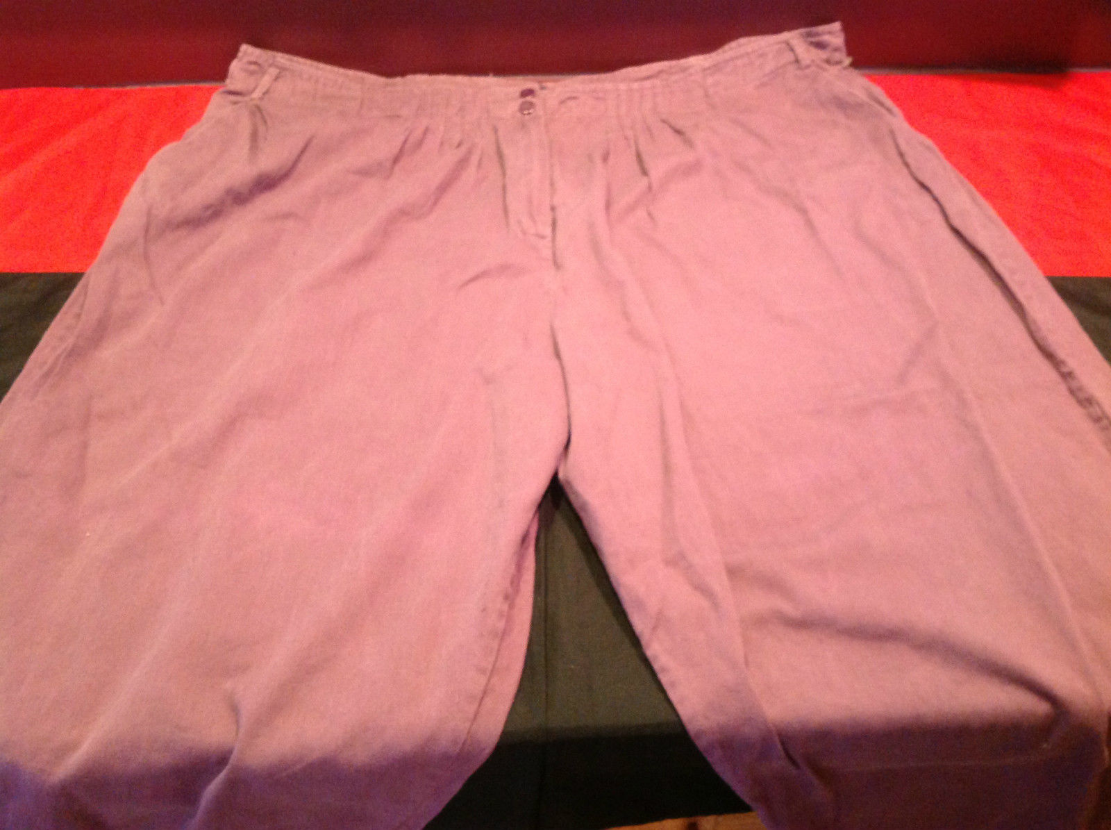 Sensational New York Ladies Long Light Purple Casual Pants Size 8