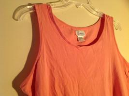 Moondance Pink Tank Top Wide Neckline Shirt Size Large image 2