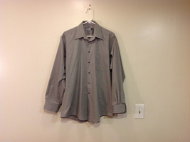 Savile Row Gray Easy Care Classic Shirt, Size 16 (34/35)
