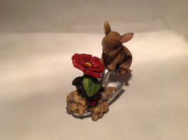 Mouse Sitting on Shovel Charming Tails Figurine Bloom Wherever You're Planted image 2