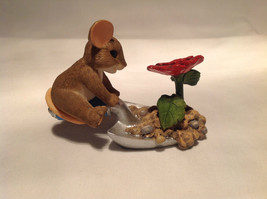 Mouse Sitting on Shovel Charming Tails Figurine Bloom Wherever You're Planted image 5