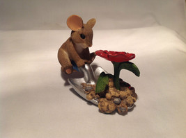 Mouse Sitting on Shovel Charming Tails Figurine Bloom Wherever You're Planted image 4