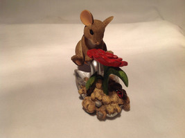 Mouse Sitting on Shovel Charming Tails Figurine Bloom Wherever You're Planted image 3