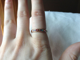 Multi Color CZ Stones Rose Gold Plated Ring Size 7.25 and 6.5 Sold Separately image 4