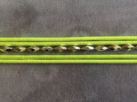Multi band silver accent beads neon elastic fashion headband, 5 choice of colors image 11