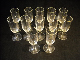 Set of 12 Cordial Glasses Short Stemware