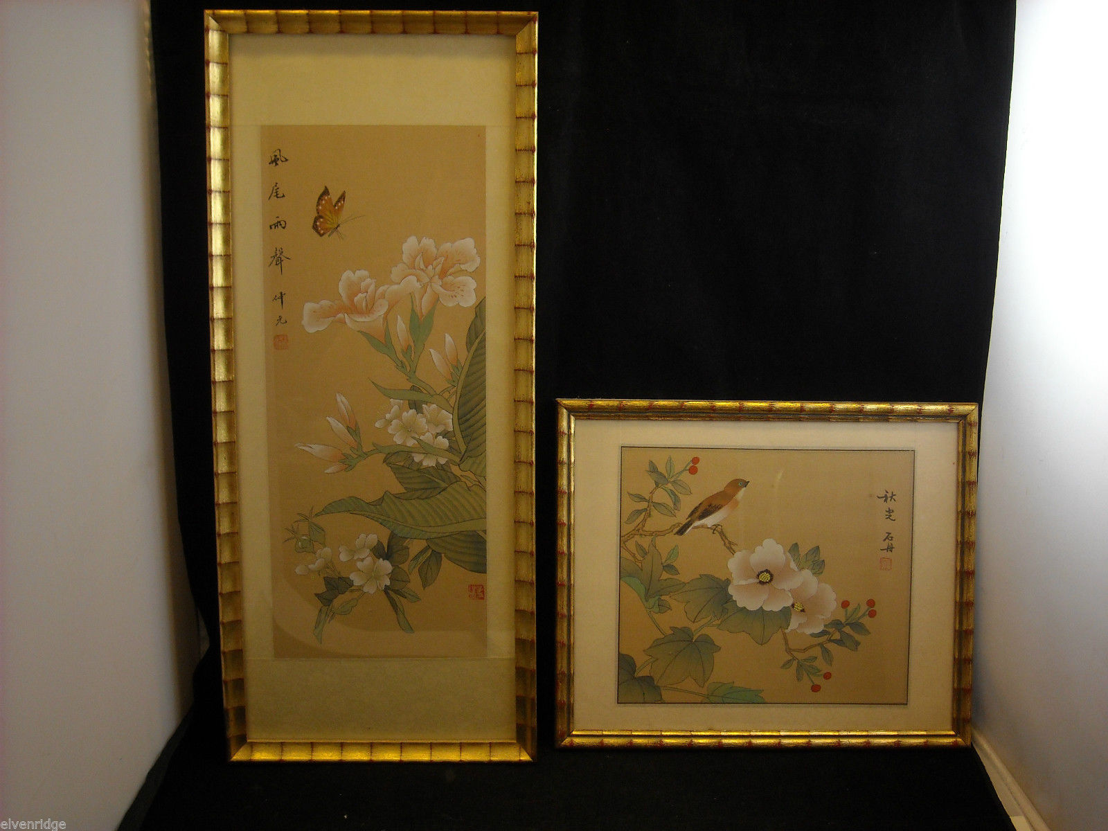 Set of 2 Asian Prints with Character Sayings