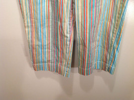 Multicolored Coldwater Creek Stretchy Waist Size 10 Striped Casual Pants image 4