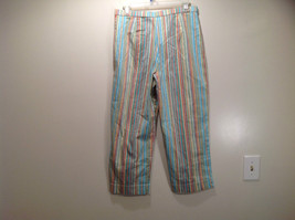 Multicolored Coldwater Creek Stretchy Waist Size 10 Striped Casual Pants image 5