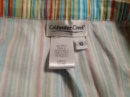 Multicolored Coldwater Creek Stretchy Waist Size 10 Striped Casual Pants image 7