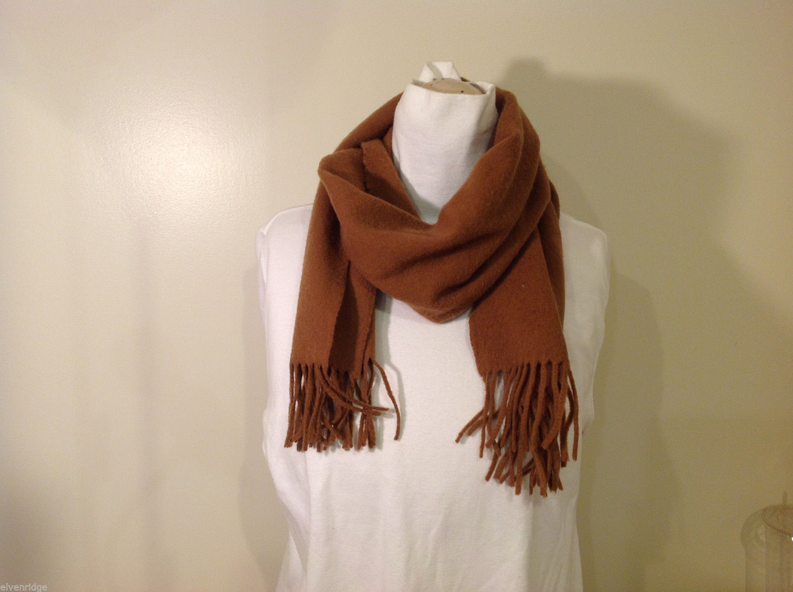 Scots Regal Brown Warm Soft Scarf made in Scotland