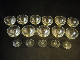 Set of 11 Shallow Cordial Glass Stemware