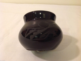 Native Indian Black with Engraving Small Vase, Signed image 3