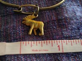NEW bangle bracelet with Moose Charm choice of color USA made  image 2