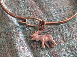 NEW bangle bracelet with Moose Charm choice of color USA made  image 4