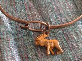 NEW bangle bracelet with Moose Charm choice of color USA made  image 6