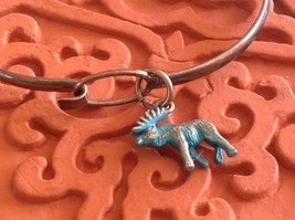 NEW bangle bracelet with Moose Charm choice of color USA made  image 5