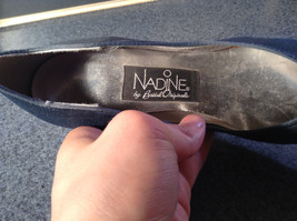 Nadine Blue High Heel Shoes Size 8.5 Excellent Condition See Pictures image 5