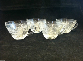 Set of 3 Vintage Tea Coffee Punch Glassware cups
