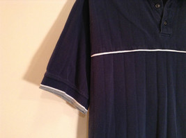 NY Yankees Dark Blue w Gray Trim Lee Sport 100 Percent Cotton Polo Shirt Size XL image 3