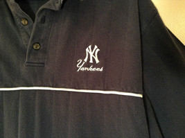 NY Yankees Dark Blue w Gray Trim Lee Sport 100 Percent Cotton Polo Shirt Size XL image 5