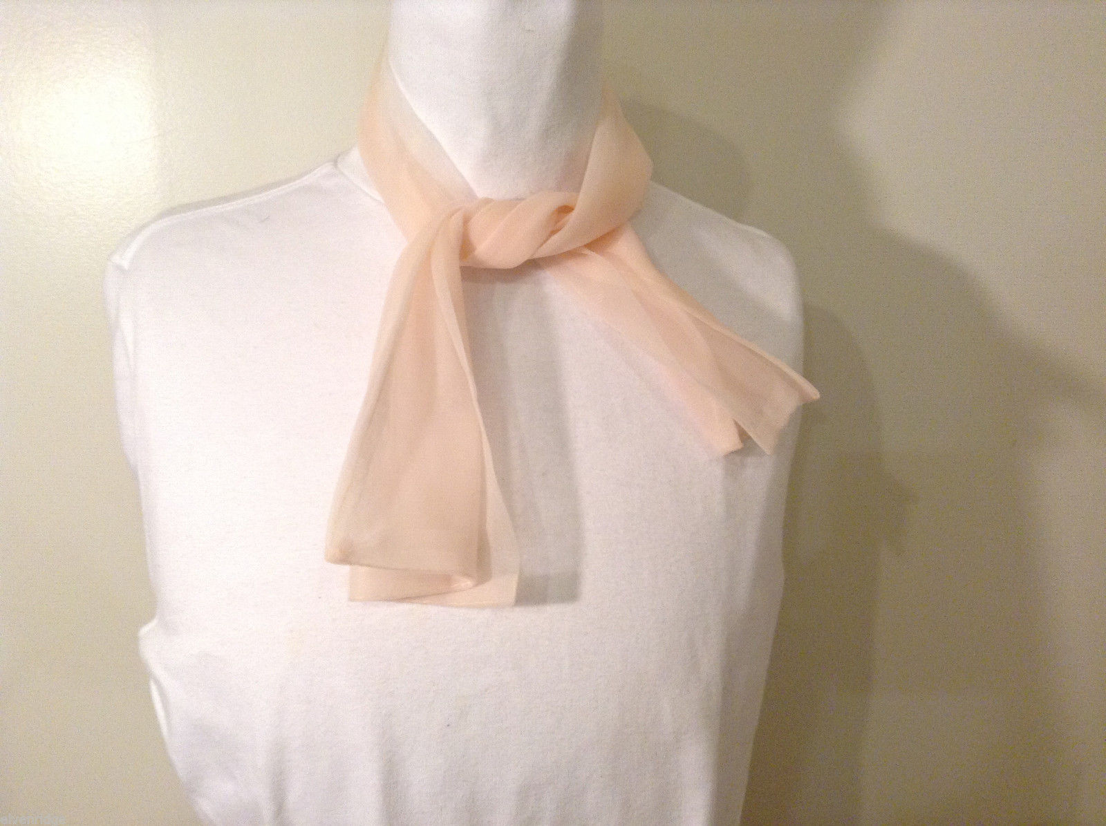 Sheer Light Pink Scarf
