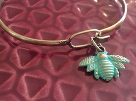 NEW bangle bracelet w Honey Bee Charm choice of color USA made image 4