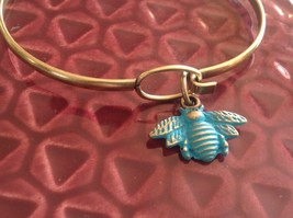 NEW bangle bracelet w Honey Bee Charm choice of color USA made image 5